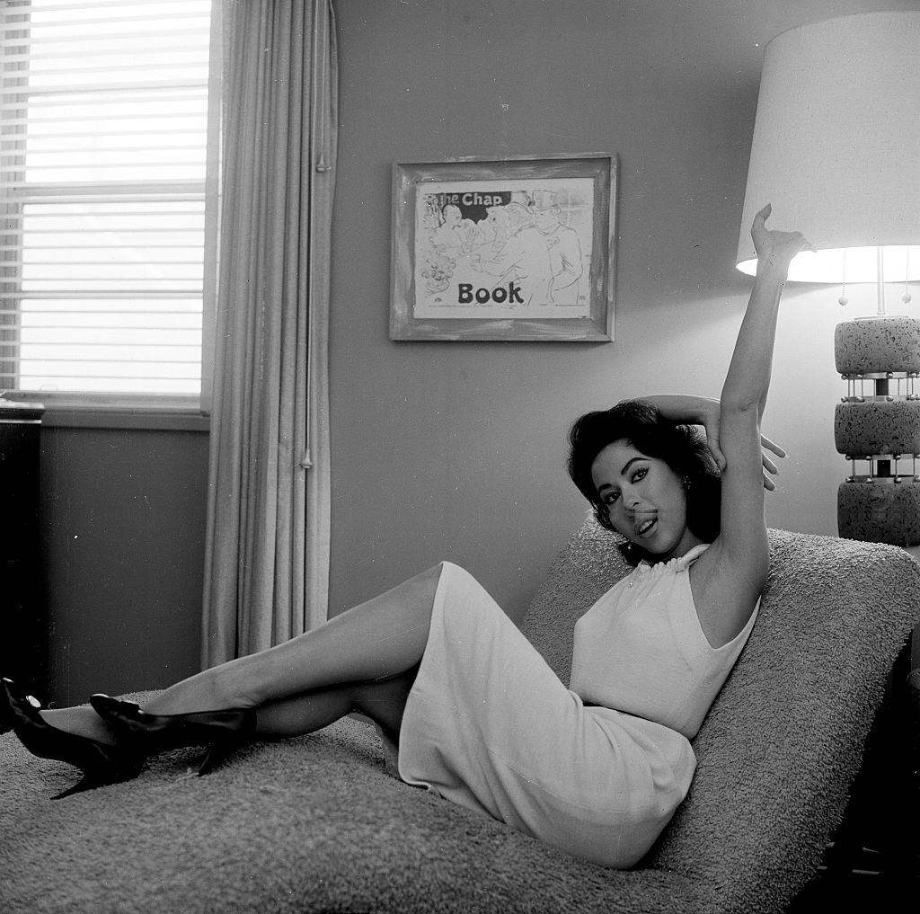 Rita Moreno at her home in Los Angeles, 1964.