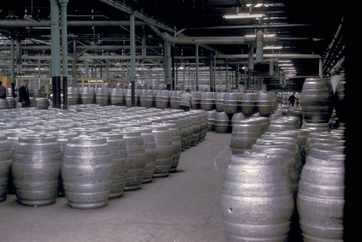 The Guinness Brewery barrel room
