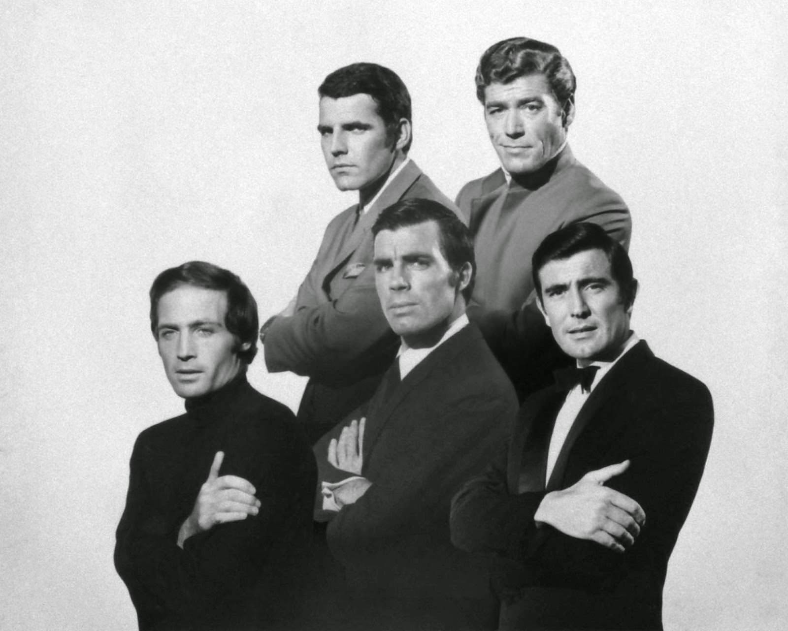 A composite image of the five top candidates (including ultimate choice George Lazenby, bottom right). Published in the October 11, 1968, issue of LIFE.