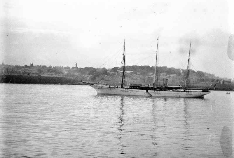 Sailing-steam vessel off the Guernsey coast