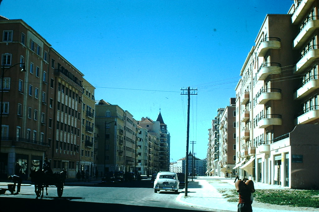 Newly Completed apartments in Lisbon, 1950s.