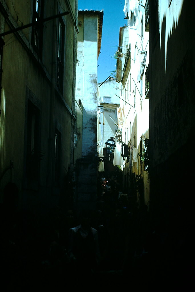 Shopping Street Moorish, Lisbon, 1950s.