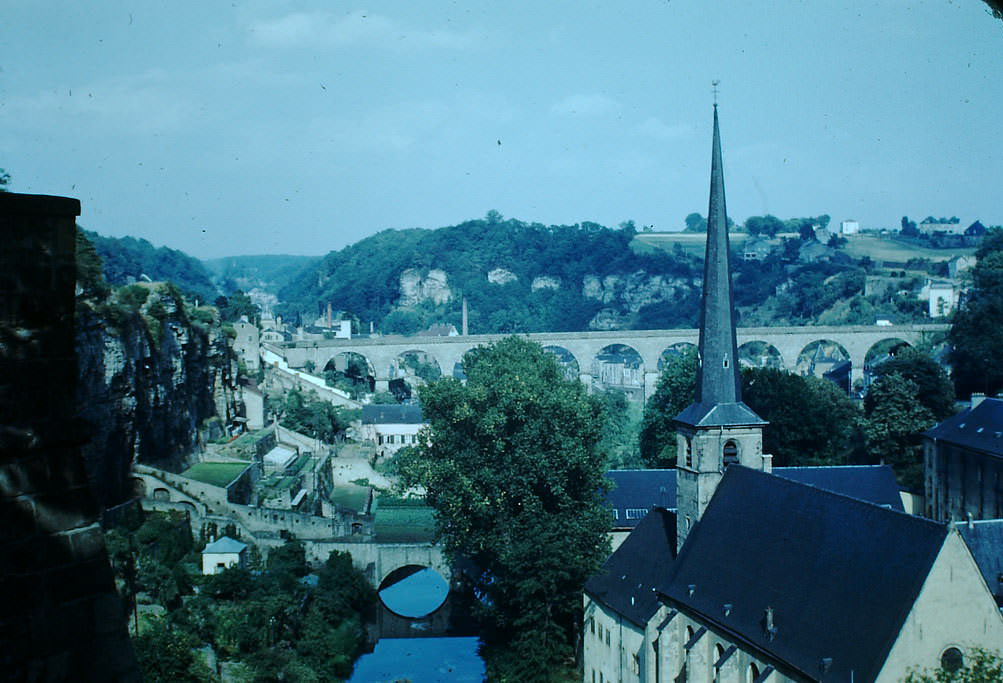 Old City Below Fortifications, Luxembourg, 1949.