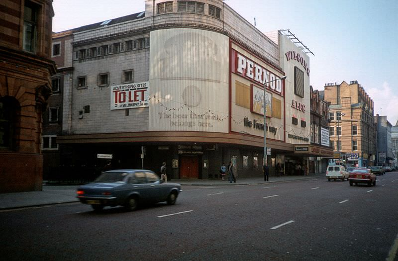 Rotter's night club, formerly the Gaumont cinema on Oxford Street, 1982