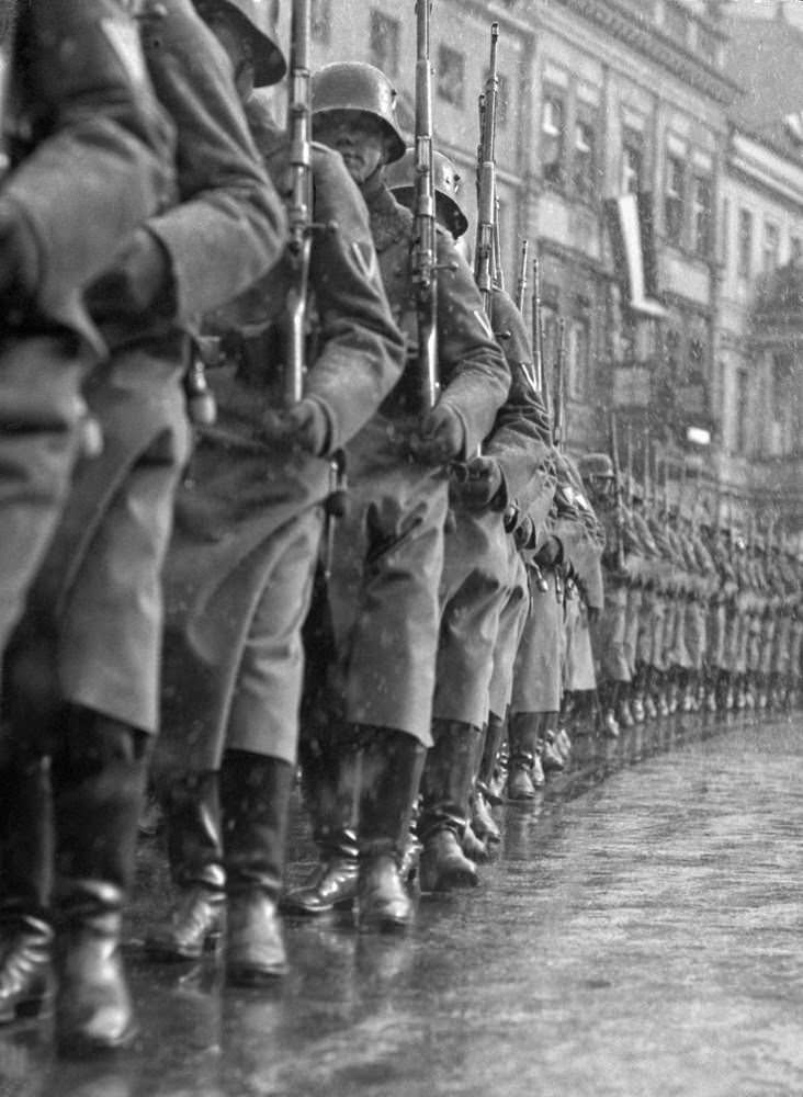 """Opening of Parliament on March 21, 1933, 'Potsdam Day'—""""The German Army marches out,"""" 1933"""