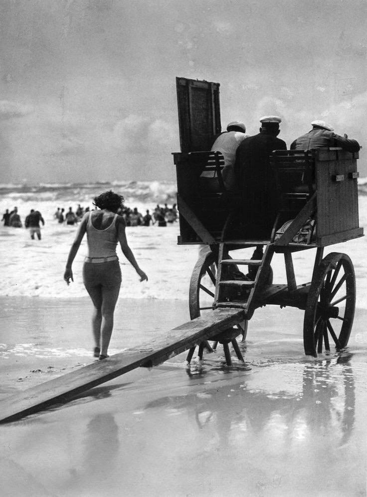 Movable lifeguard tower, Germany, c.1929