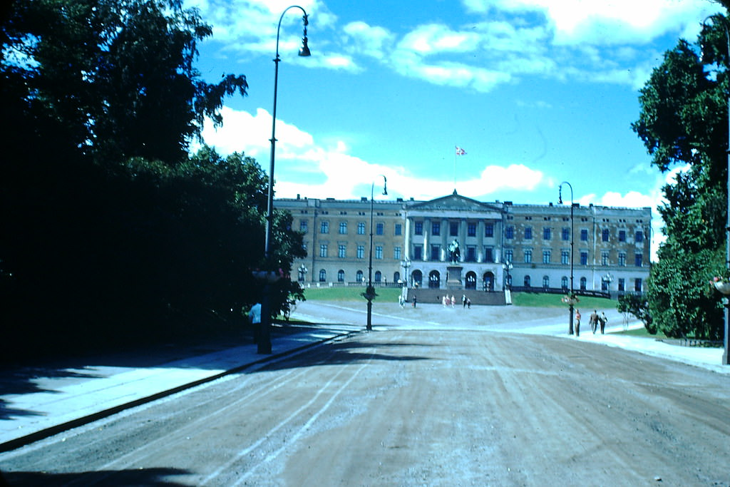 Palace in Oslo, Norway, 1940s.