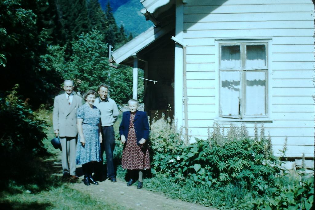 Thue Family in Balestrand- Norway, 1940s.