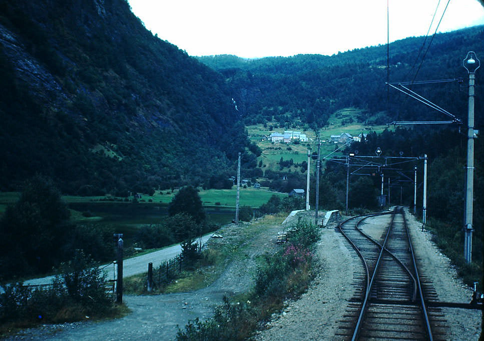Electric Train- Voss to Granvin, Norway, 1940s.