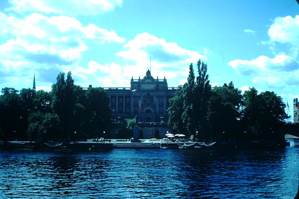 House of Parliament in Stockholm, Sweden, 1949.