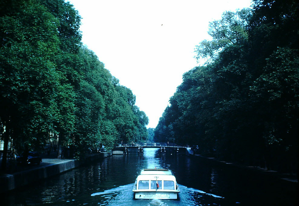 Canal Excursion in Amsterdam, the Netherlands, 1940s.