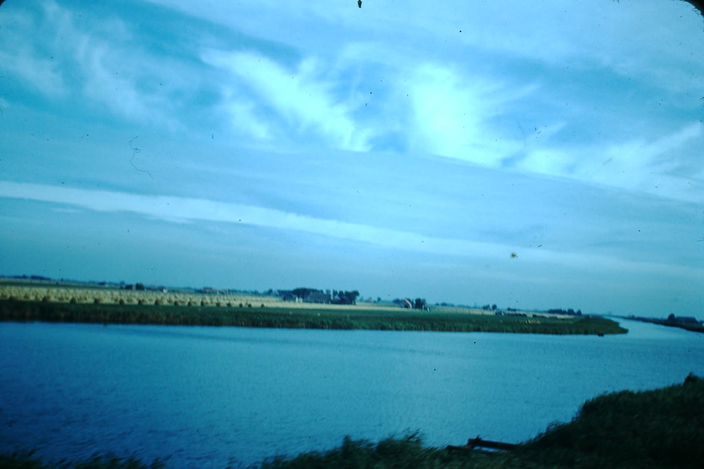 Countryside from Train near Amsterdam, the Netherlands, 1940s.