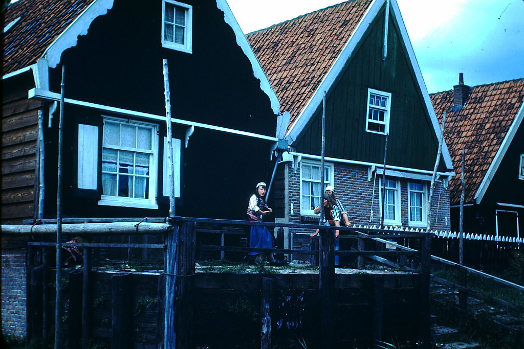 Isle of Marken Houses, the Netherlands, 1940s.