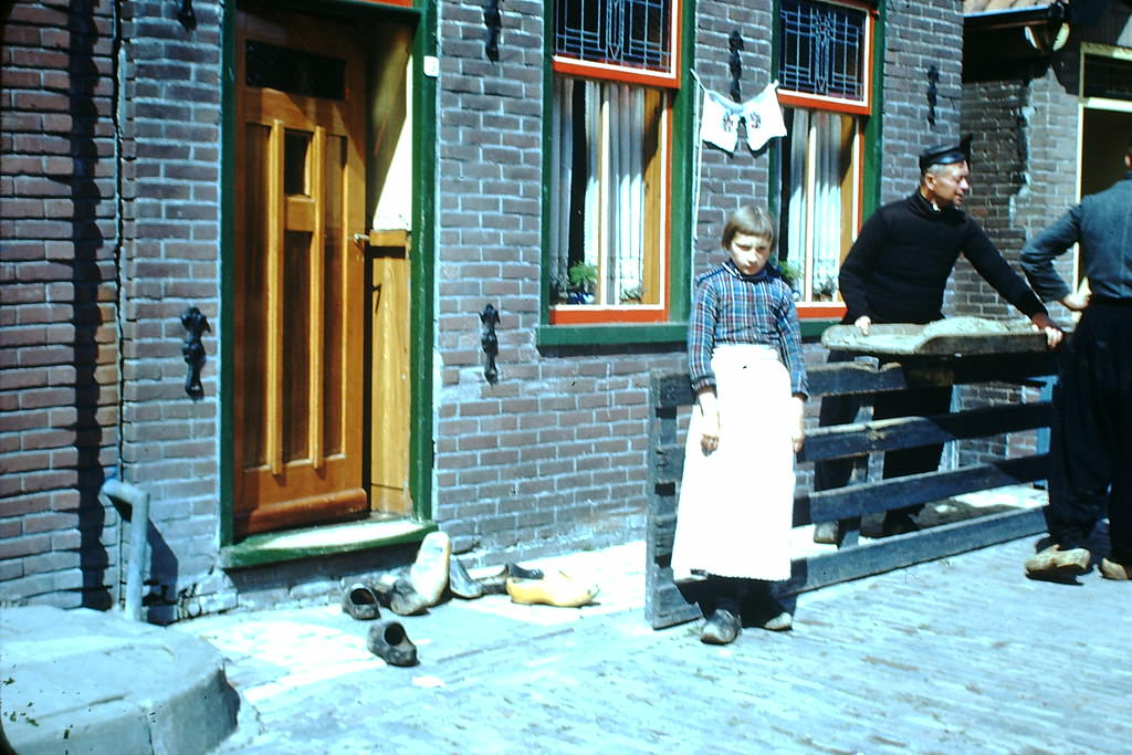 Wooden Shoes in Volendam, the Netherlands, 1940s.