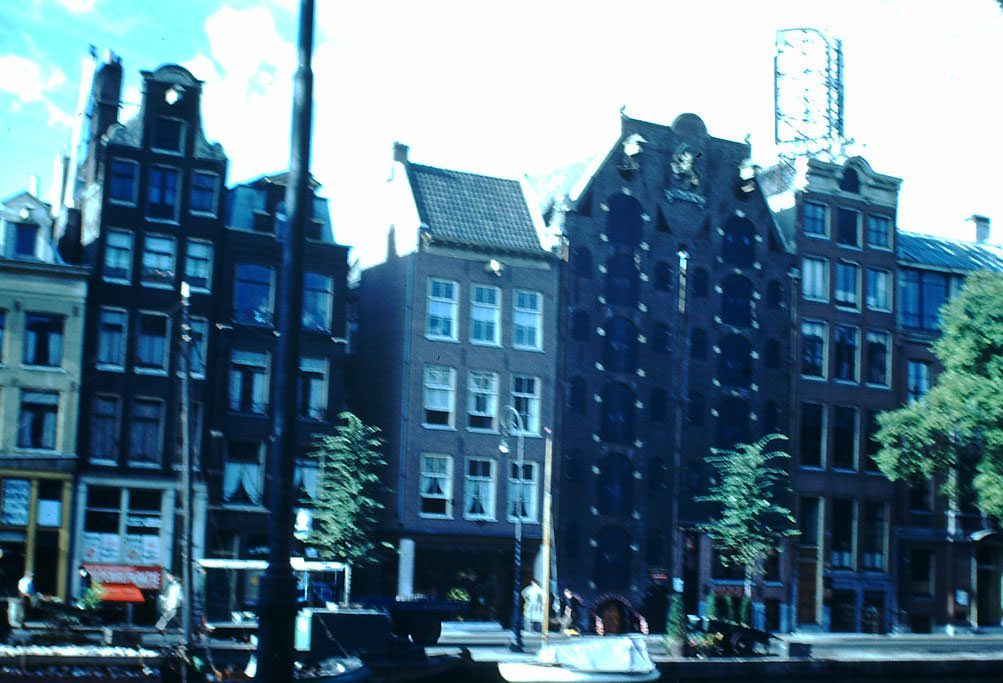 Canal Warehouses in Amsterdam, the Netherlands, 1940s.