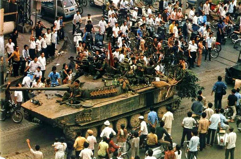The Fall of Saigon in Vietnam on April 30, 1975.