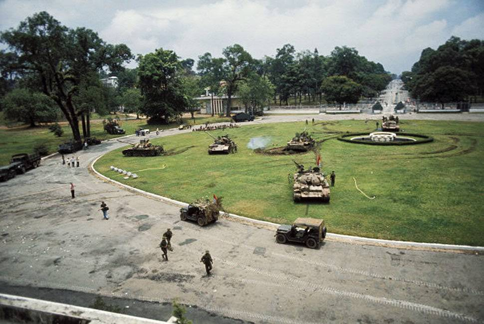Attacking the presidential palace.
