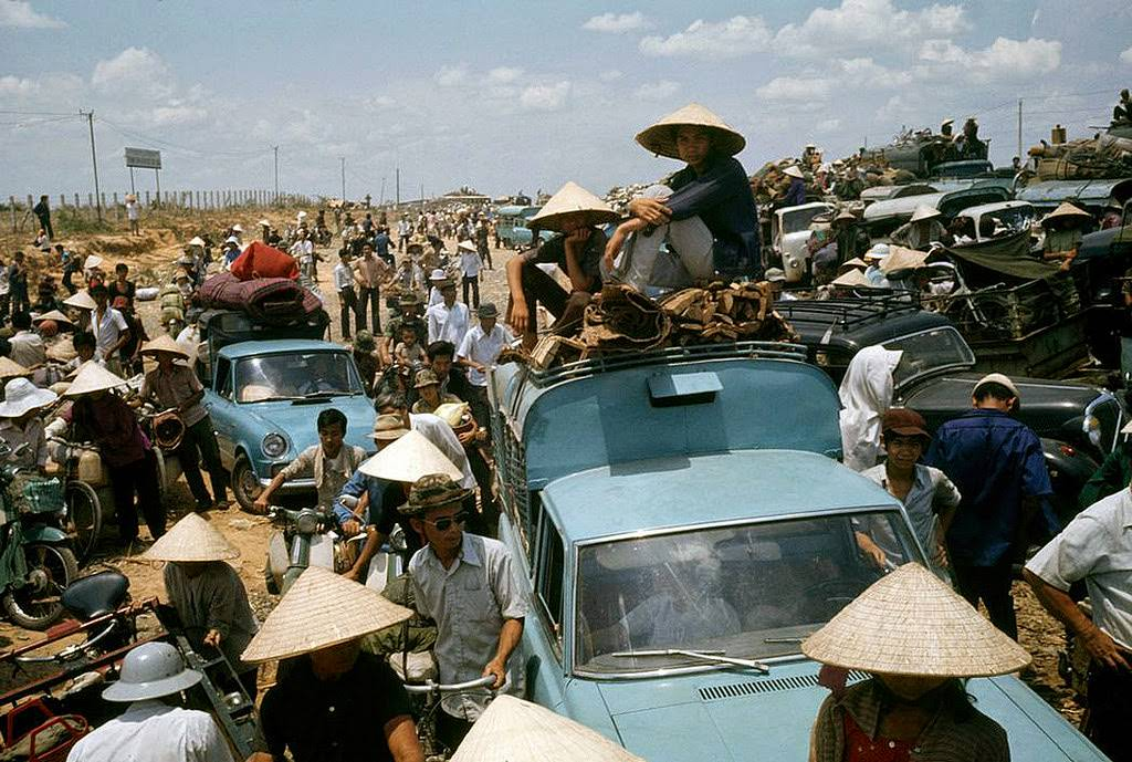 Refugees during the last days of the Vietnam War.