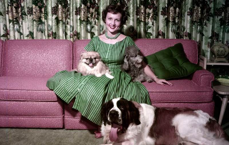 Betty White with her pets