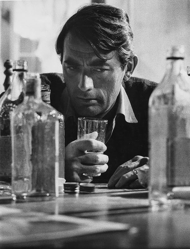 """Gregory Peck on set of """"Beloved Infidel,"""" 20th Century Fox, 1959"""