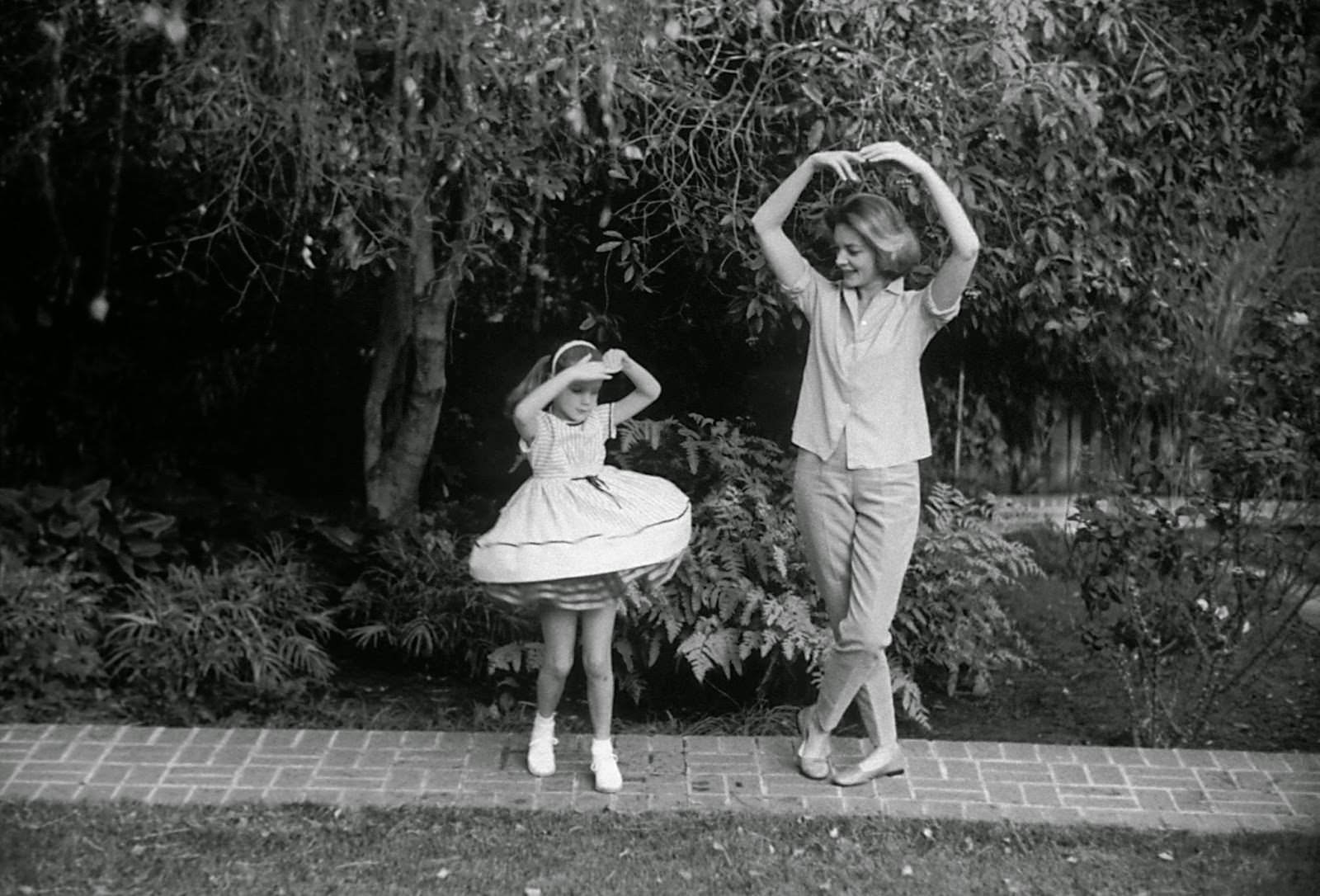 Lauren Bacall with daughter Leslie Bogart at home in Beverly Hills, 1958