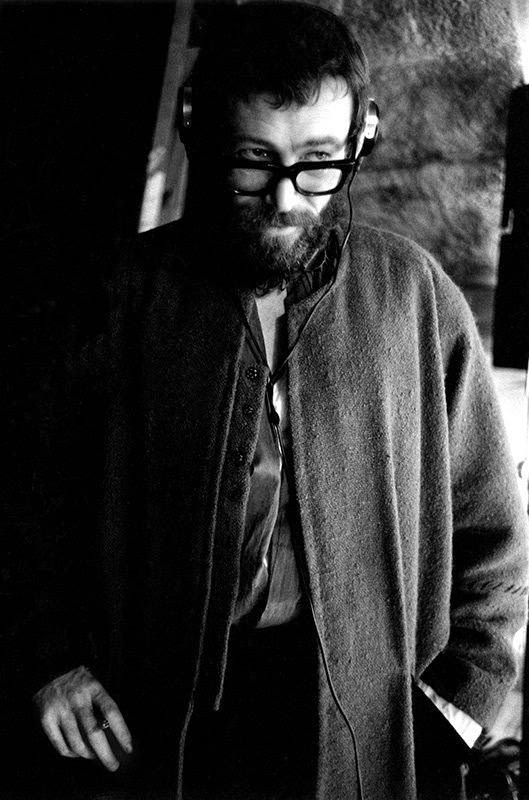 """Peter O'Toole listens to playback of a scene he has just made as Henry II, in """"The Lion in Winter,"""" France, 1967"""