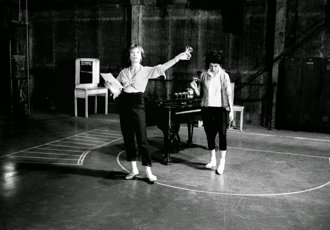 """Shirley MacLaine rehearses for """"Can-Can"""" at 20th Century Fox, 1959"""