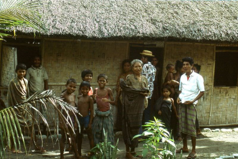 Local people on Flores island, 1970s