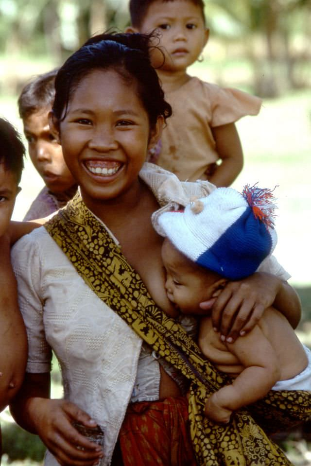 Young mother on Lombok island, 1970s