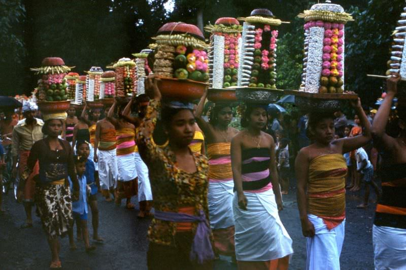 Balinese procession, 1970s