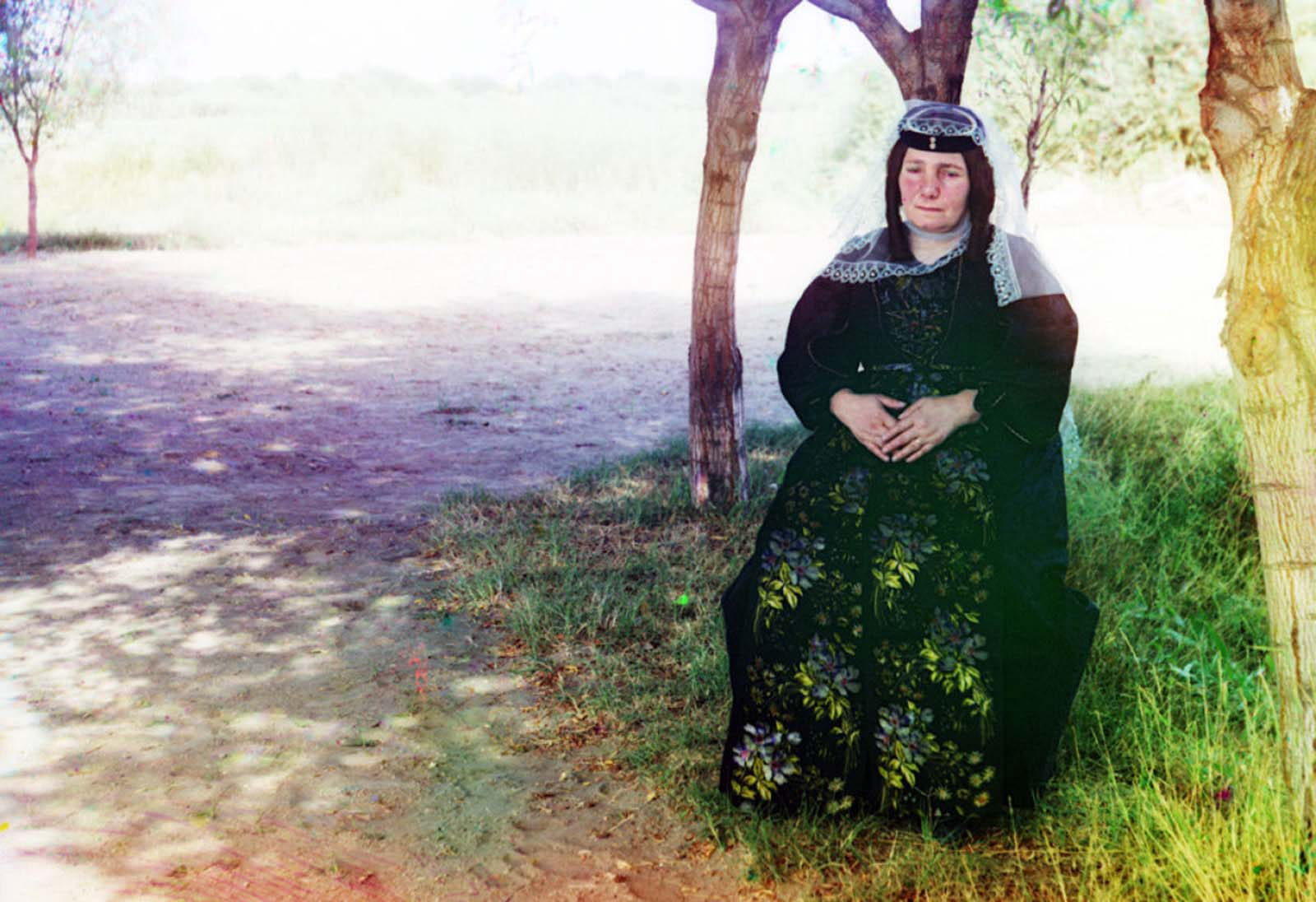 A Georgian woman poses for a photograph, 1910.