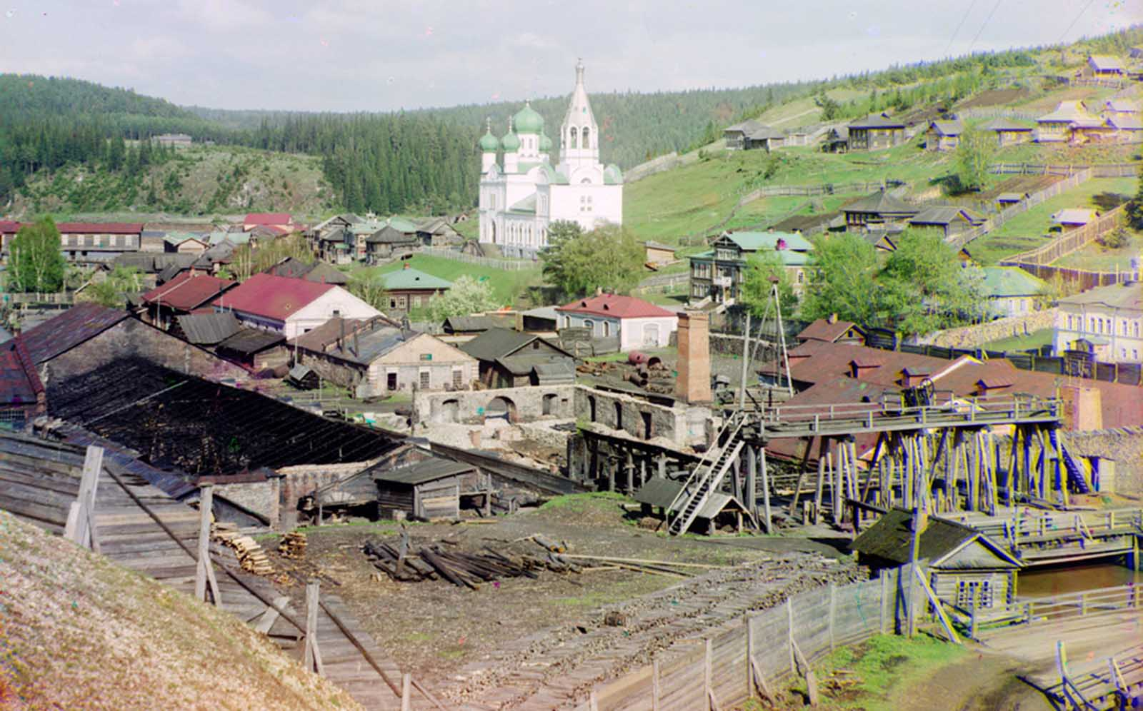 Factory in Kyn, Russia, belonging to Count S.A. Stroganov, 1912.