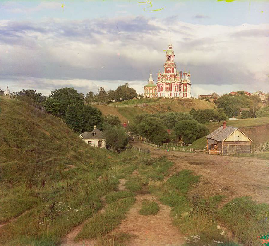 General view of the [Nikolaevskii] cathedral from southwest, 1911