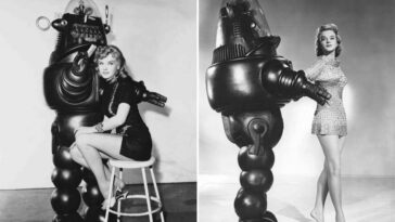 Anne Francis with Robby the Robot