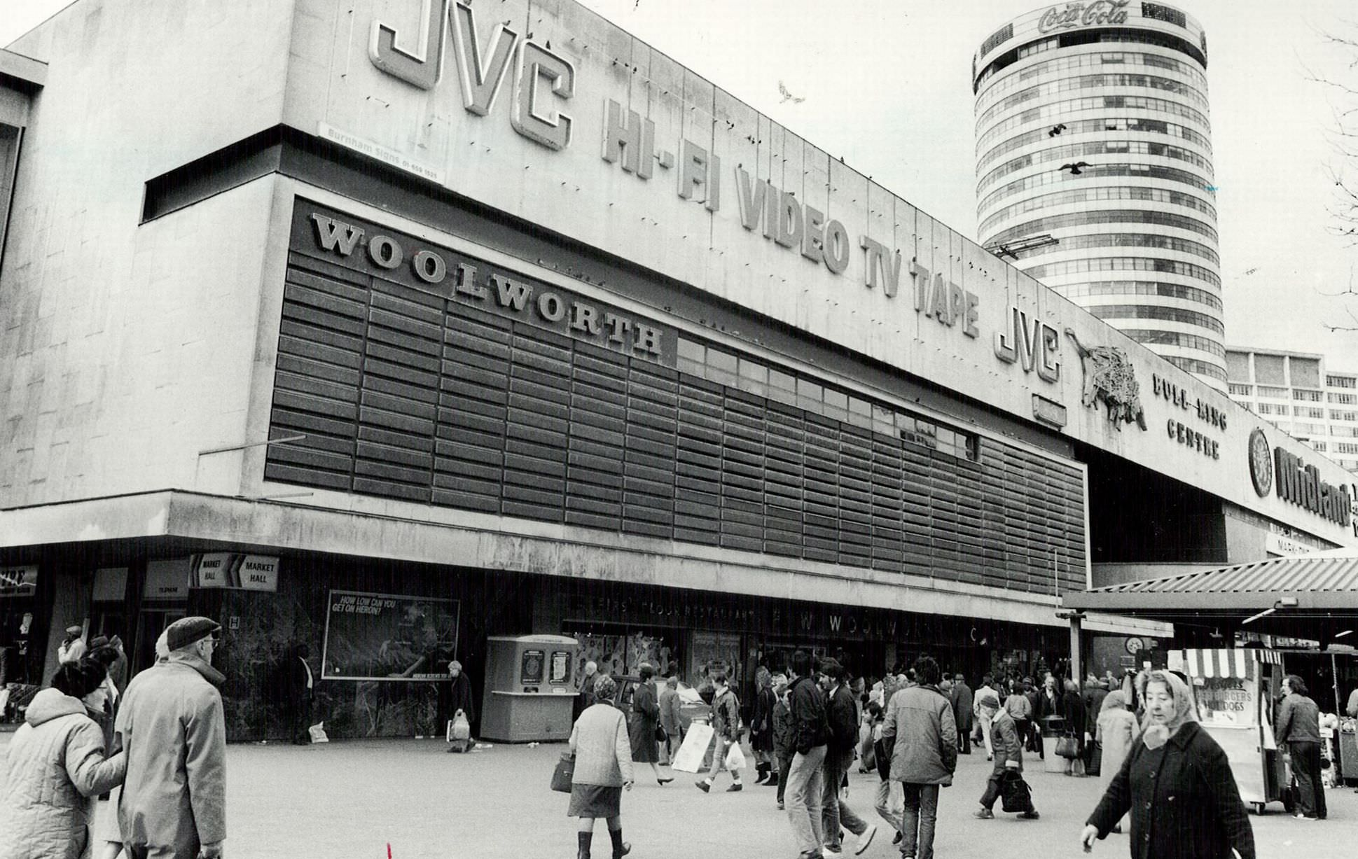 The Woolworth store in the Bull Ring 27th March1986.