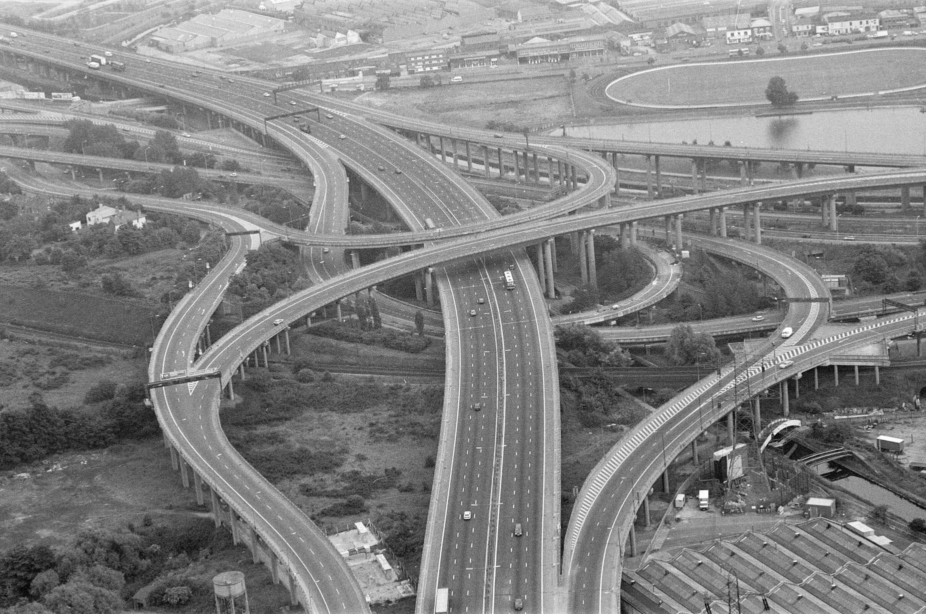 Aerial View of Spaghetti Junction, Birmingham, Tuesday 21st June 1988.