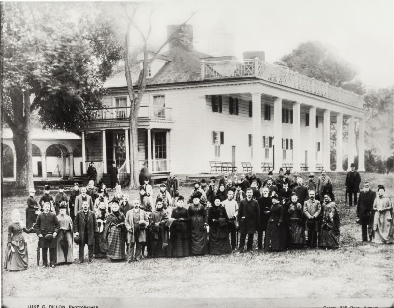 Burbank at Mount Vernon--Retouched 1888
