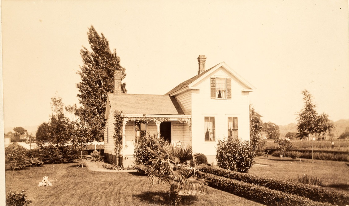 Early picture of Luther Burbank's old home 1884