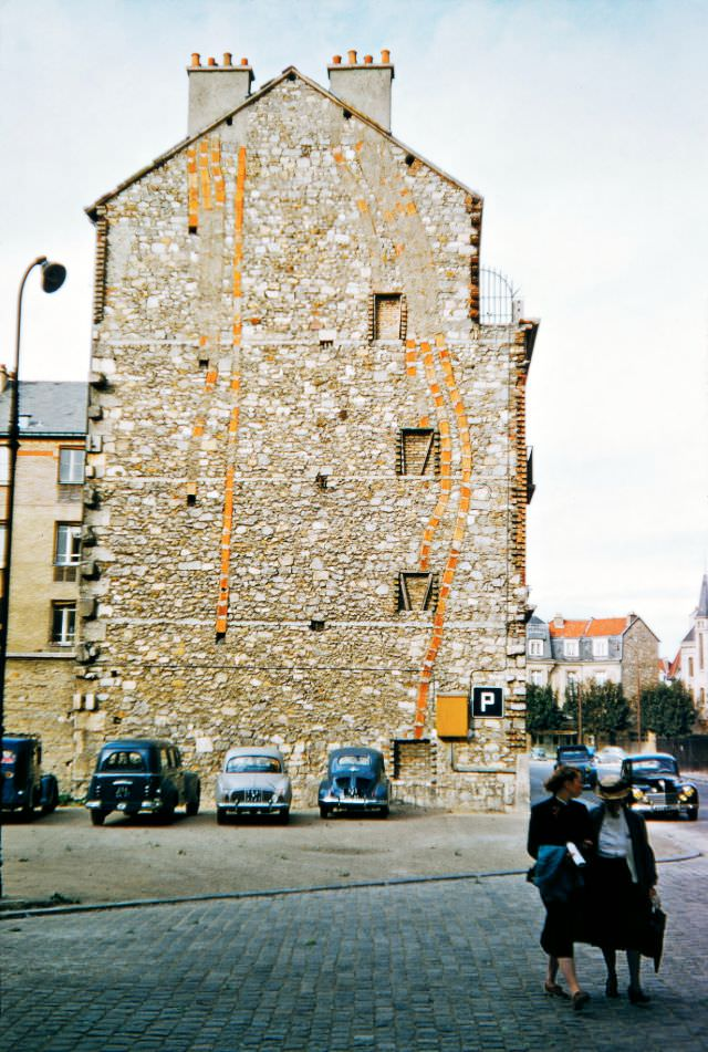 Chimney Flues, Rue Robert de Coucy, near the Reims Cathedral, Reims, 1956