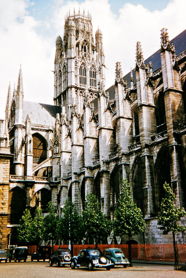 Crossing Tower of the Church of St. Ouen, Rouen, 1956