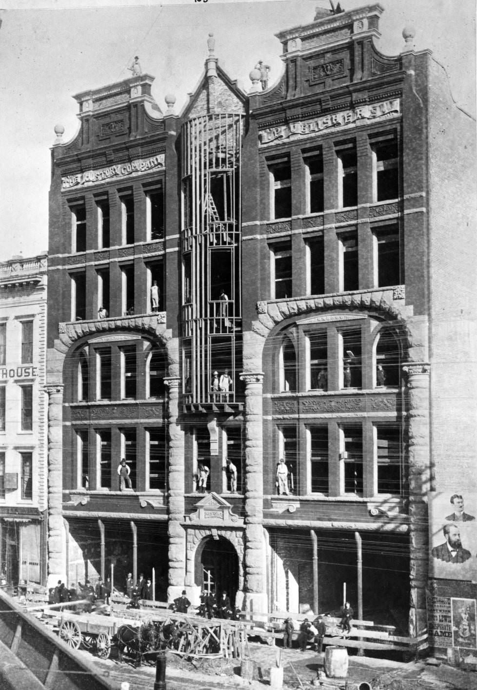 San Francisco, Market Street, Bancroft's History Company building, 1886.