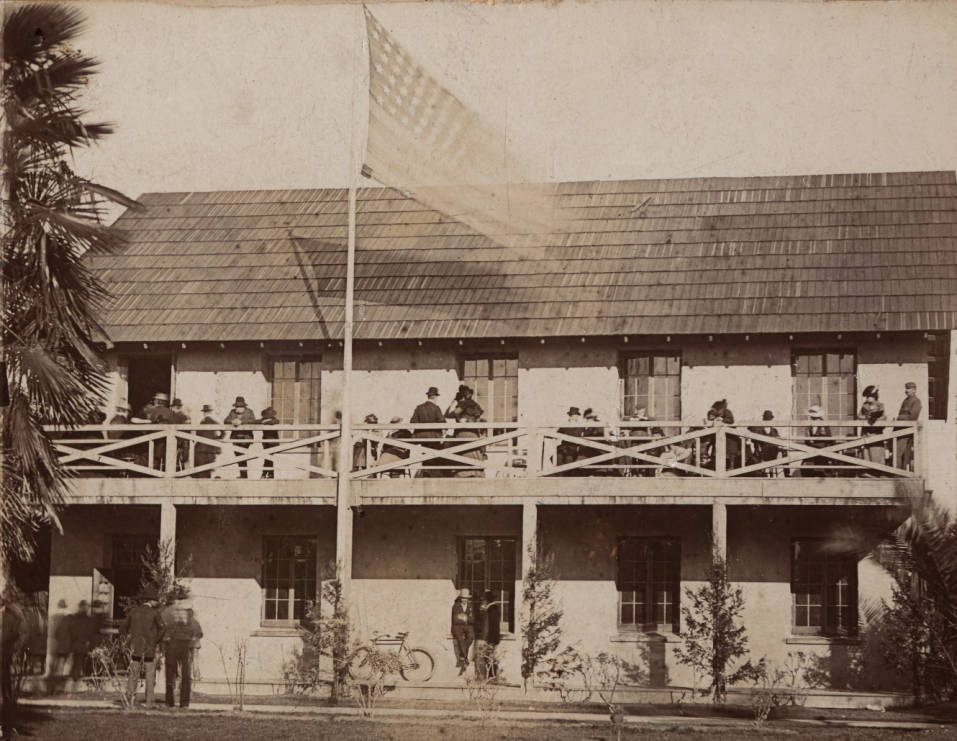 Replica of California's first State House, 1890s.
