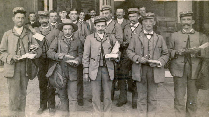 San Jose mail carriers, 1890s.