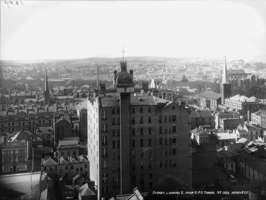Sydney, looking east, from GPO Tower