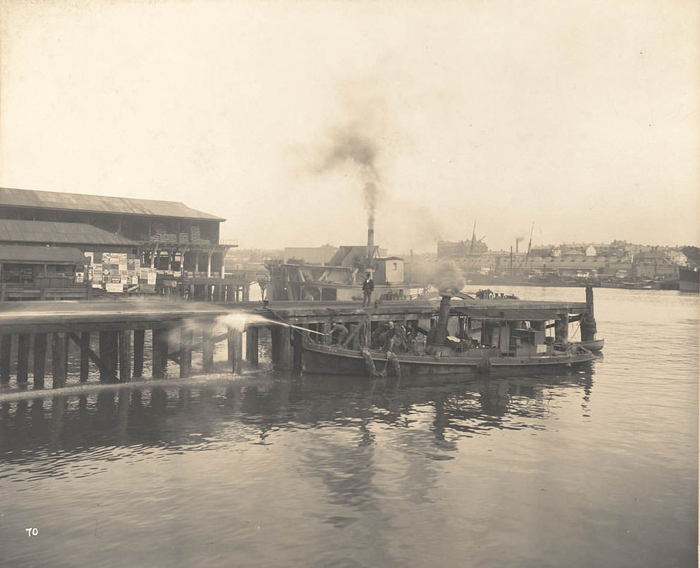 Cleaning the Wharves