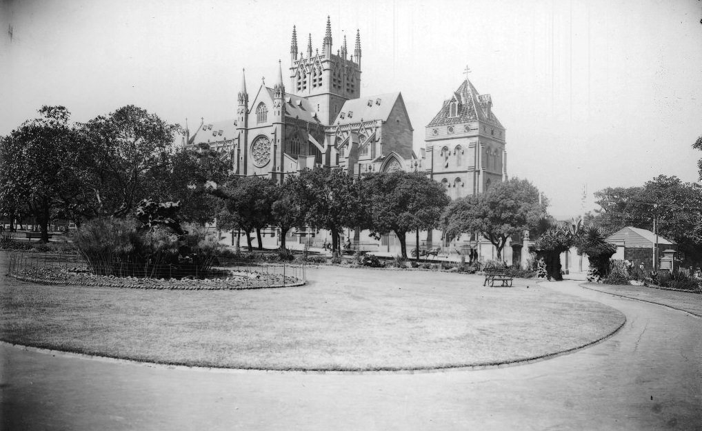 St Mary's Cathedral from Hyde Park
