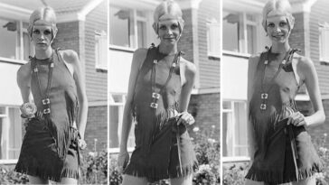 Twiggy in Hippie Outfit 1967