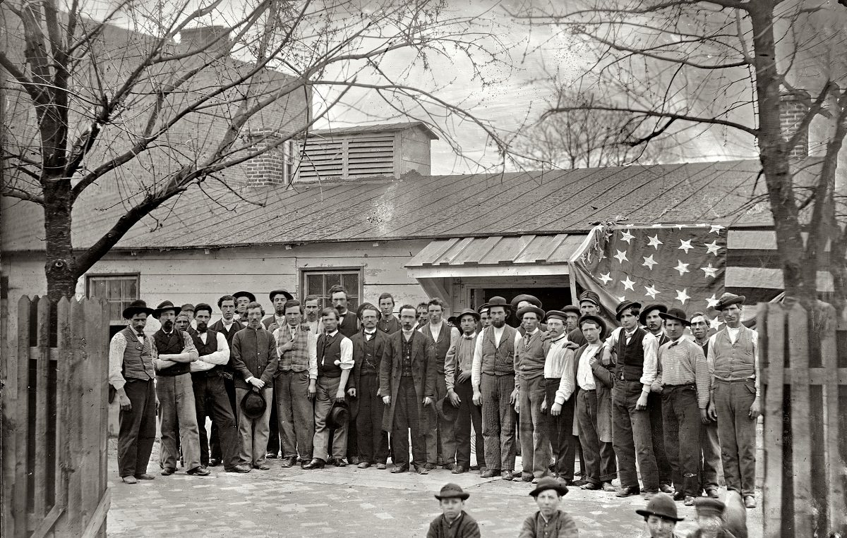 Group of Quartermaster Corps employees, 1865.
