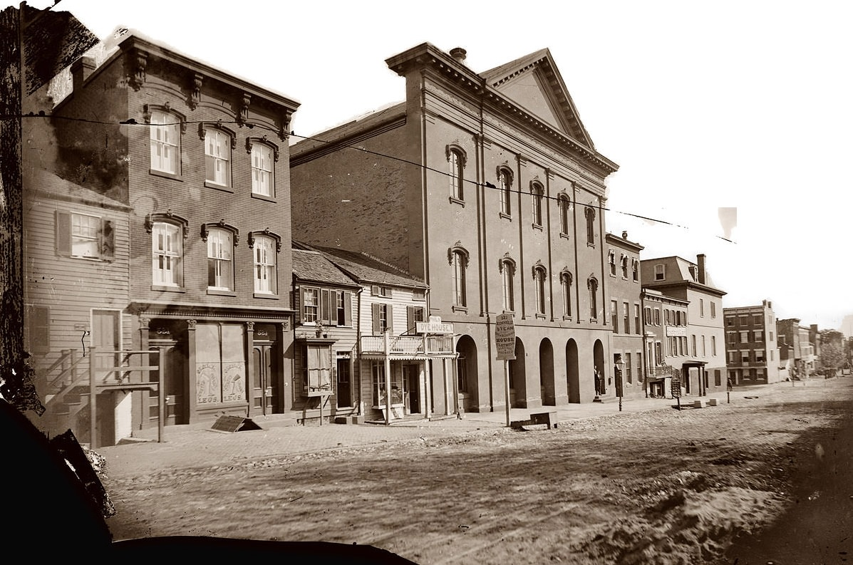 Old Ford's Theatre in Washington, D.C., where Abraham Lincoln was shot in 1865.