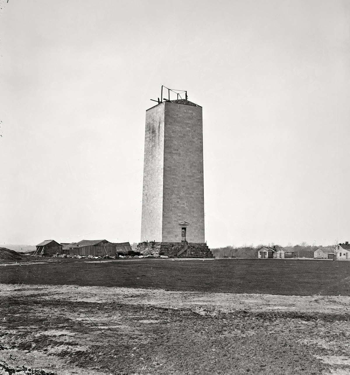 Washington Monument as it stood for 25 years, 1860.